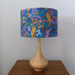 Floral Blue Lampshade | Whimsical | Handmade in WA