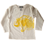 Long Sleeve Tee - Yellow Turtle Print