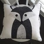 Woodland fox nursery cushion