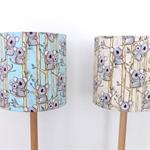 Koala Fabric Lampshade | Blue | Cream | Nursery Room