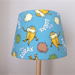 The Lorax Fabric Lampshade | Tapered | Blue Green