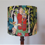 Frida Kahlo Black Lampshade | Frida's Garden Lamp Shade