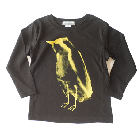 Long Sleeve Tee - Bird Yellow Print