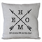 Personalised HOME Cushion Cover - Oatmeal