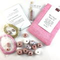 Make it yourself necklace gift kit-handcrafted polymer clay beads- rose gold