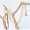 Custom Name Word Wood Bead Garland Home Decor Beach Boho Beads Eco-Friendly