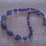 Murano glass & Swarovski  crystal feature necklace