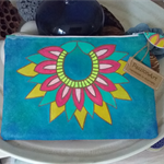 Cosmetic Pouch - Hand Painted
