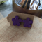 Purple flower 🌺 Studs