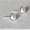 Sterling Silver & 6.5mm Freshwater Pearl Earrings.