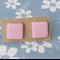 'Pink Musk' Handmade Polymer Clay Stud Earrings