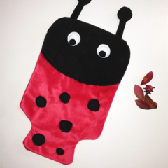 Ladybug Hot Water Bottle Cover