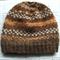 Fair Isle Beanie Unisex Handspun Natural Fibre Dye Free Brown