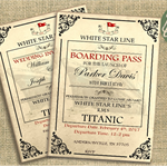 Titanic Birthday Event Invitation   Nautical Titanic Wedding   Printable