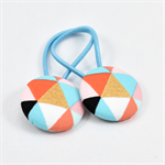 Button Hair Ties - Geometric
