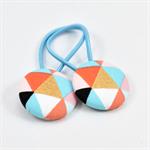 Button Hair Ties - Geometric