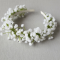 Baby's Breath Headband - Flower-girl, Wedding, Communion