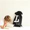 Kids Letter Backpack - Black and White