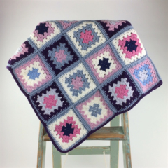 Crochet Baby Blanket | Girl |  Pure Wool | Pink | Violet | Gift | Ready to Post