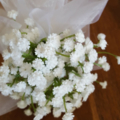 Flower Girl Floral Wand - White Baby's Breath Flower Wand for Flower-girl