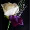 Buttonhole - White Rose, Lavender, Sweet Pea Buttonhole for Groom or Groomsman