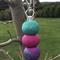'Fuchsia Fusion' Handmade Polymer Clay Key ring