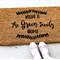 Personalised Coir Door Mat, Welcome, Housewarming, Birthday gift, Name & Date