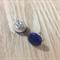 Sapphire Blue Gloss Wooden Stud Earrings
