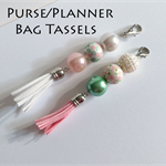 Bag Tag * Handbag Tassel * Purse Charm * Planner Dangle Accessory Journal Bling