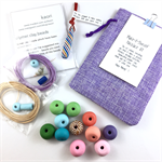 Make it yourself necklace gift kit-handcrafted polymer clay beads- rainbow