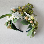 Green Floral Bo Ho Headband - Spring Racing Hairpiece