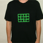 Mens screen printed space invader  tshirt size XXL