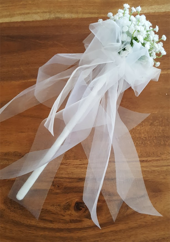 Flower Girl Floral Wand White Baby 39 S Breath Flower Wand