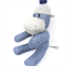 'Hooper' the Sock Hippo - blue and grey - *READY TO POST*