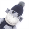 'Maisie' the Sock Monkey - grey with navy blue hearts - *READY TO POST*