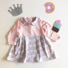Pink Swan Collar Dress