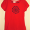Womens mandala and various other design short sleeve screen printed tshirt