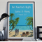 Beach Wedding art print, Custom Wedding gift, Personalized beach theme print,