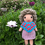 Hand Knitted Doll | Soft Toy | Gift Idea | Miniature Poncho    | Ready to Post