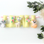 Woodland Felt Name banner 5 letters - custom order, Perth