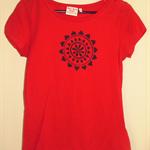 Womens mandala and various other design short sleeve screen printed tshirt