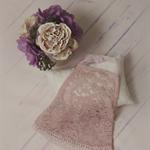 Newborn Dress / Dusky Pink / Stretch Lace