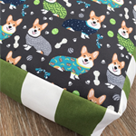 Corgis in PJ's Dog Bed Cover  -  Medium