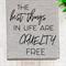 'Cruelty Free' Linen Tea Towel in Oatmeal