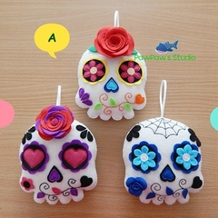 Sugar Skull Felt Ornament Decoration