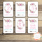 Baby Milestone Cards - Girl - Floral Watercolour