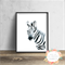 Zebra Watercolour - Wall Art Print