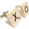 Vintage Wooden Scrabble Tile Cufflinks - You Choose the Letters - Customized