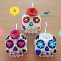 Sugar Skull Felt Ornament Decoration
