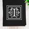 Personalised Linen Tea Towel in Black